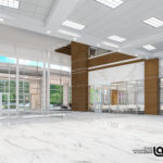 Springhill GME Building render, lobby interior